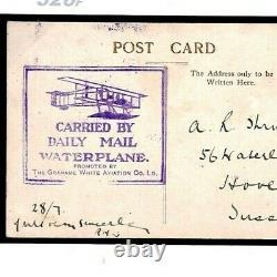 GB PIONEER AVIATION Daily Mail Waterplane Cachet Portsmouth Hants 1912 326f