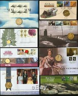 GB QE II PNC Royal Mail & Royal Mint cover collection (the first 50 covers)