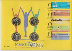 GB Qeii Pnc Cover £2 Coins Royal Mail Mint 2002 Commonwealth Games Manchester