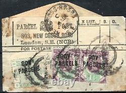 GB RARE SG. O62 Parcel Post Label 6d GOVT PARCELS Official 1892 c£1,400+ SS371