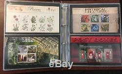 GB Royal Mail Presentation Packs in Album. 2008 to 2009 plus Others (36pks app)