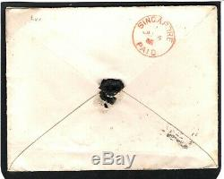GB SG. 193 Cover 1885 SINGAPORE PAID CDS Military Destination Mail Stockwell 532b