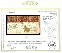 GB SG. 40 Cover JAMAICA MAIL 1859 Dundee 6d Rate Penny Reds PORT-MARIA CDS D191