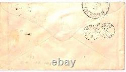 GB TRANSATLANTIC TEXAS MAIL 1878 Penny Pink Cover 4d Cut-Out Die Galveston AU94