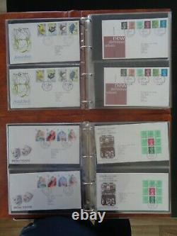 GT BRITAIN 1973-1988 COLLECTION OF 390 x FIRST DAY COVERS 7 x POST OFFICE ALBUMS