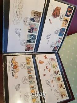 GT BRITAIN 1984-2005 COLLECTION OF 279 x FIRST DAY COVERS 5 x ROYAL MAIL ALBUMS