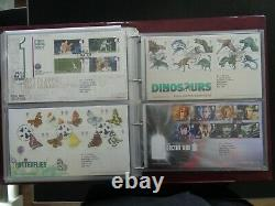 GT BRITAIN 2000-2013 COLLECTION OF 193 x FIRST DAY COVERS 3 x ROYAL MAIL ALBUMS