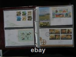 GT BRITAIN 230 x DIFFERENT FIRST DAY COVERS 2000-2015 IN 4 x ROYAL MAIL ALBUMS