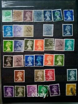 Great Britain UK Post Stamps Collection Queen Royal Genuine Rare Collectible