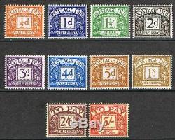 Großbritannien Portomarken MiNr. P 45 54, postfrisch MNH, Postage Due4545