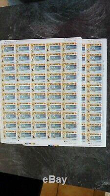 Guernsey/Jersey 121 ganze Bögen aus den Anfangsjahren 1969-1971 Postfrisch