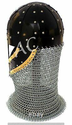 Medieval Viking Armor Chain Mail Helmet Knight Armour Norman Battle Spectacle