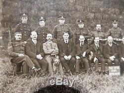 Military Philatelic Ww1 Ripon Camp Post Office Staff! Original Postcard R Photo