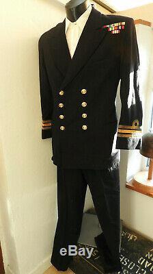 Military Post WW2 Royal Navy Tunic Uniform Naval Commander R. J. B. Sutton (5449)