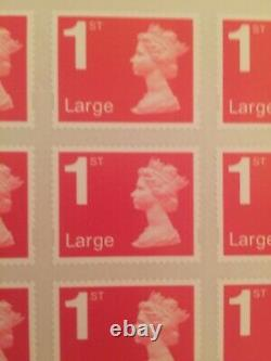 NO RESERVE 1000 Royal Mail Large Letter 1st Class Stamps self adhesive 1st post