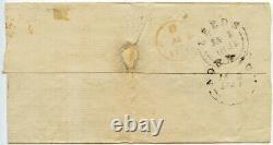 PENNY BLACK Plate 8 KJ + CLECKHEATON PENNY POST COVER LEEDS 1 JAN 1841 NORWICH