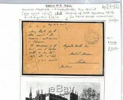 PIONEER AVIATION Card RAF FLOWN 1919 Cologne APO. R. 29 Rhine Air Mail GB London