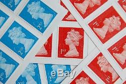 Pack Of 500 1st Class Or 2nd Class Royal Mail Unfranked Stamps Off Paper No Gum