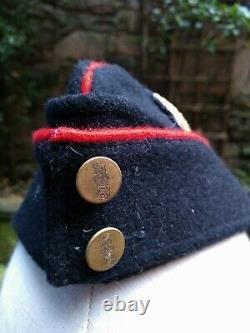 Perfect Post War Gloucestershire Regiment Officer's Side Cap/hat, Bullion Badges