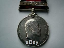 Post Boer War Natal 1906 medal Zulu Rebellion Tpr Brereton Royston's Horse