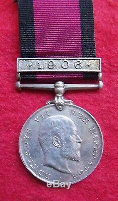 Post Boer War Natal 1906 medal Zulu Rebellion Trooper NATAL CARBINEERS