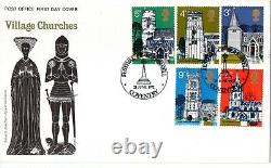 Post Office 1972 Village Churches Festival of Bakeswell Coventry Handstamp