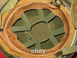 Post WW2 Belgian / British Airborne Paratrooper / Helmet