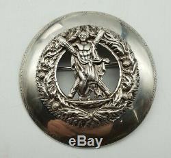 Post WW2 British Army Black Watch Royal Highlanders Officers Silver Plaid Brooch
