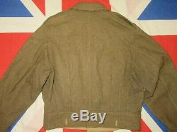 Post WW2 British Army Officers Uniform Battledress Blouse & Trousers Size 18