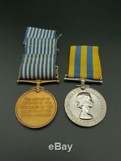Post WW2 British Army Queens Korea & UN Medal Set Royal Signals W. R. Philpot