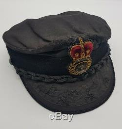 Post WW2 British Merchant Navy Peaked Cap Named + Ship Provenance Ex Museum