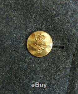 Post WW2 Military Blue Great Over Coat RAF Uniform Air Force Badges R10-12
