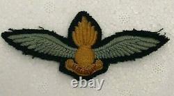 Post WW2 RAF Observation Pilot Wings patch genuine cloth badge 1948-57
