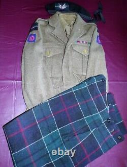 Post Ww 2 Scottish Highlander Majors Complete Uniform