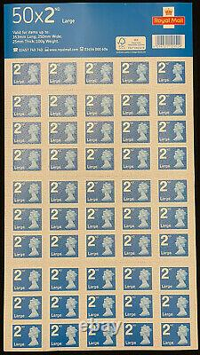 Royal Mail 2nd Class Large Letter Postage Stamps 4 50 Sheet