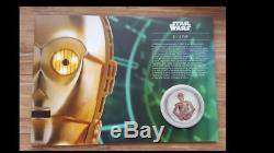 Royal Mail Limited edition 750-Star Wars C3PO Silver Proof Medal/Coin- 412/750