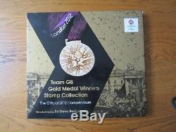 Royal Mail, Team GB Gold medal winners stamp collection, 2012 Olympics book