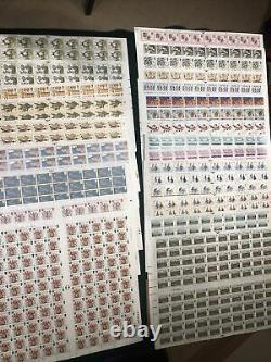 Royal Mail Unused Stamps Face Value £505, Mint Unhinged Complete Sheets X 25