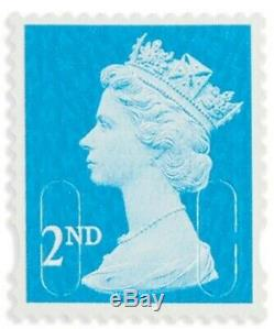 Royal Mail x1000 2nd Class Security Stamps Unfranked OFF PAPER No Gum UK SELLER
