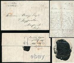 SCOTLAND 1838 PEEBLES PENNY POST + CHINESE SEAL. LONG LETTER GRANT to BERRY