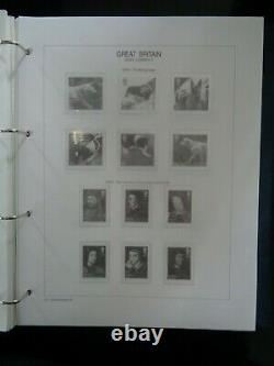 SET 5 x ROYAL MAIL HINGELESS GREAT BRITAIN STAMP ALBUMS 1971-2010 ALL LEAVES