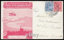 SG327 1911 First UK Aerial Post, London to Belgium, dated SP. 9.1911