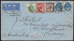 SG434/ 437 1929 PUC Air Mail First Day cover to Australia