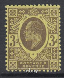 SG 277a 3d Grey on Lemon M21 (3) in Post Office fresh unmounted mint