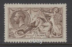 SG 407 2/6d Dark Brown N64 (4) De La Rue Seahorse in Post Office fresh Unmounted