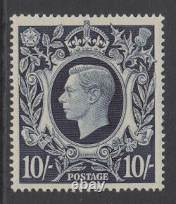 SG 478 10/- Steel Blue-Black Q32 (2) Post Office fresh Unmounted Mint condition