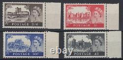 SG 536a-539a 2/6d to £1 1958 1st De La Rue Castle's set in Post Office fresh U. M