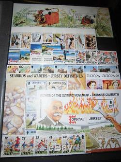 Sammlung, GB Jersey 1990-2000 komplett, postfrisch (882)