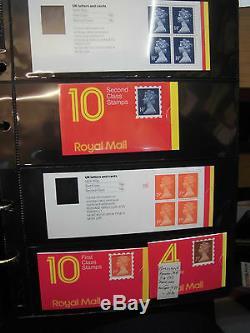 Sammlung Großbritannien GB Markenheftchen 107x MH postfrisch mit Typen (60092)