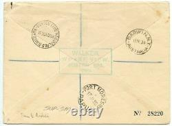 Scarce 1934 2/6d re-engraved issue on air mail cover to Papua New Guinea
